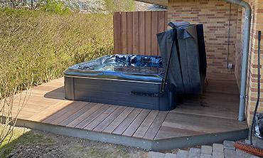 Tømrerarbejde: Billede af terrasse i Bjæverskov