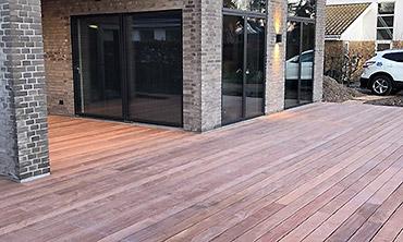 Tømrerarbejde: Billede af terrasse i Greve